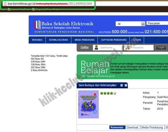 Cara Download Buku BSE Tanpa Harus Login