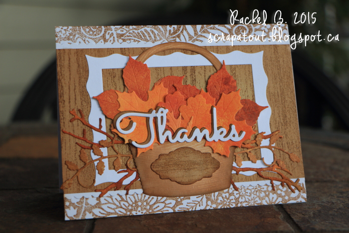 Handmade card, Impression Obsession, Thanks, Autumn
