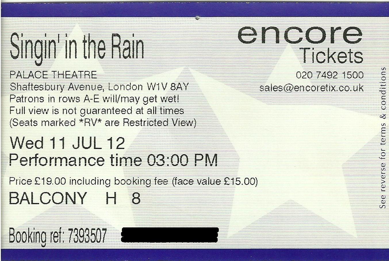 top london shows  singin u0026 39  in the rain   palace theatre