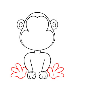 How To Draw A Cartoon Monkey Step 5