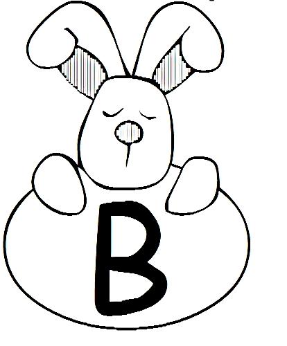 Desenhos Para Colori Letras Do Alfabeto Letra B desenhar