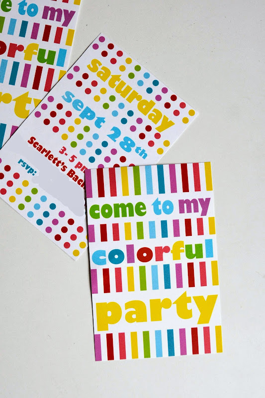 Invitations Rainbow Birthday Party Free Printable