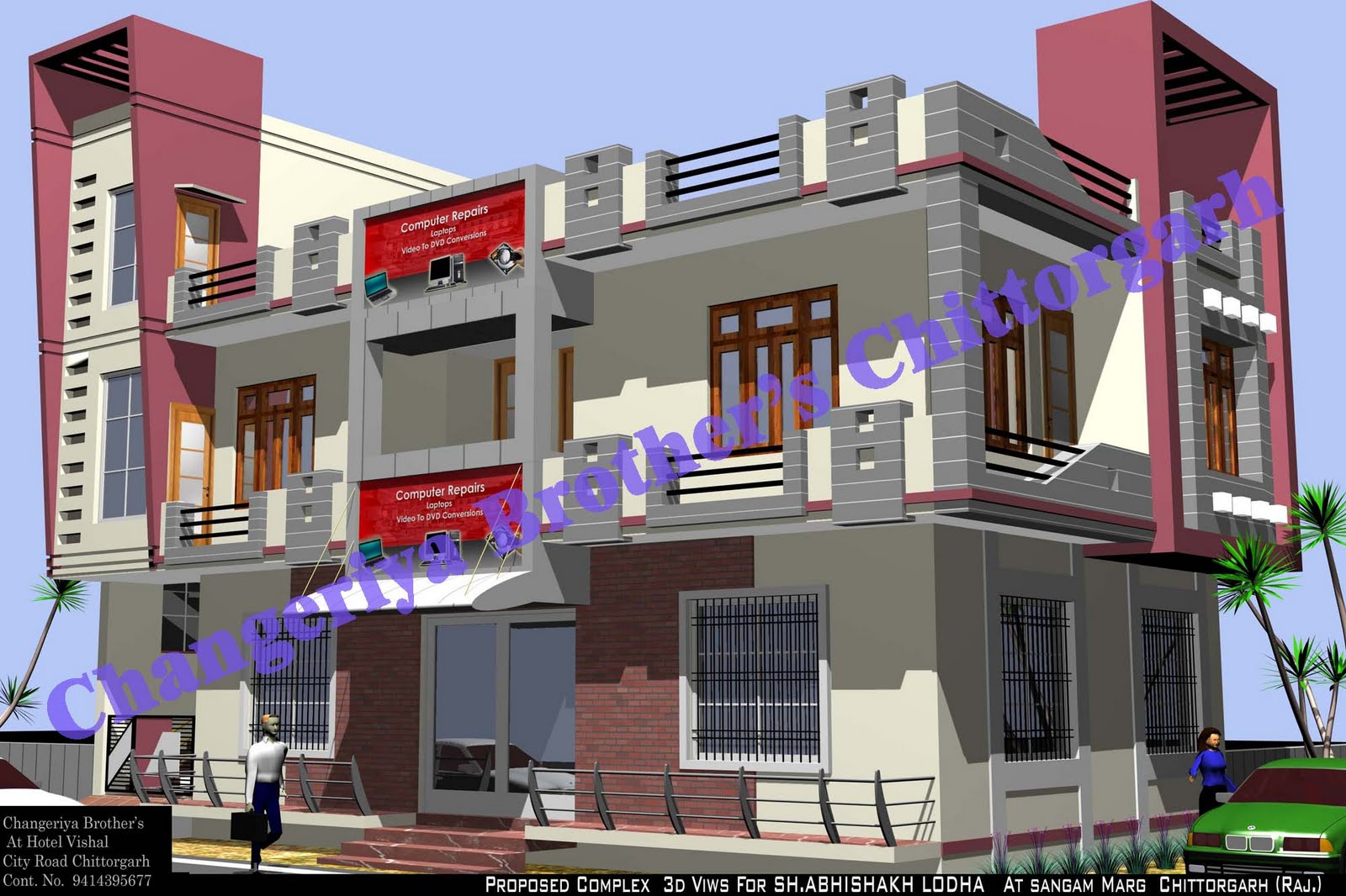 Mr Abhishek Lodha Complex Project Exterior Design In 3d