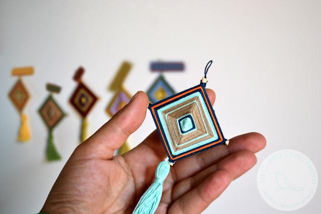 mandala in filo realizzato a mano dalla civetta chiacchierina