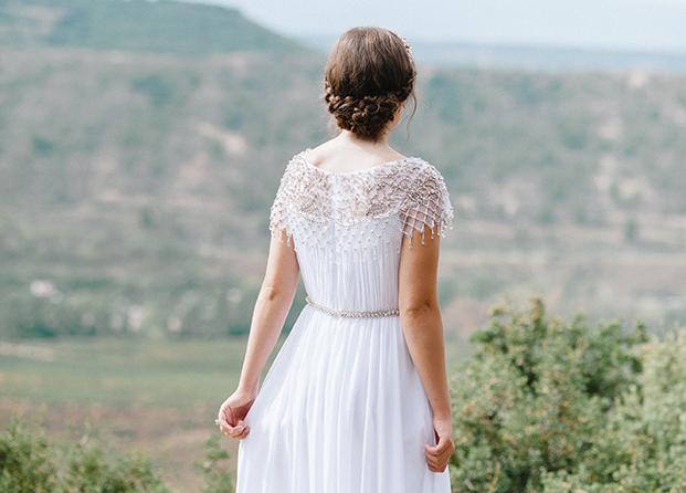 Recogido de novia con trenzas