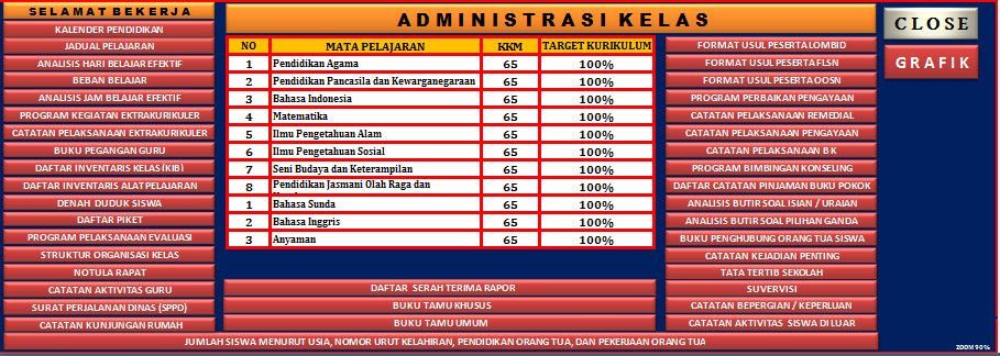 Aplikasi Administrasi Kelas KTSP SD