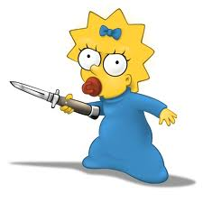 Maggie Simpson With A Knife