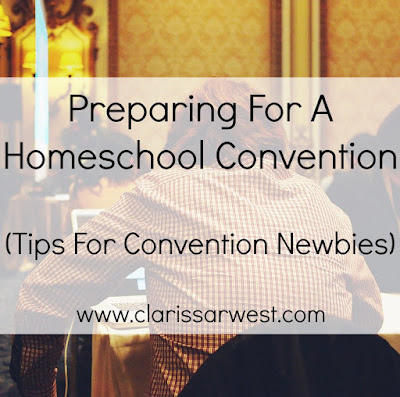 some great tips on being prepared for a homeschool convention!