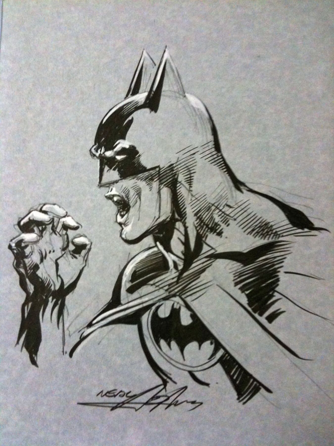 Neal adams batman sketch
