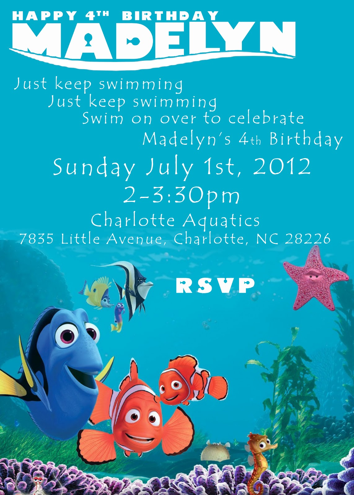 Finding Nemo Baby Shower Invites for nice invitation template
