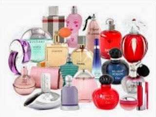 Koleksi parfum menggoda - ilustrasi