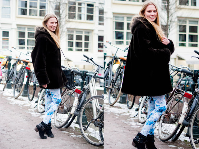 oversized fake fur winter coat jas nepbond