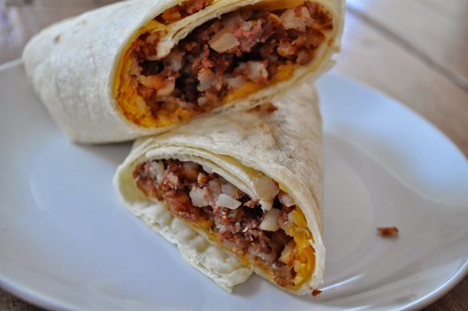 ... Corned Beef Hash Breakfast Burritos, they're FAST and EASY and of