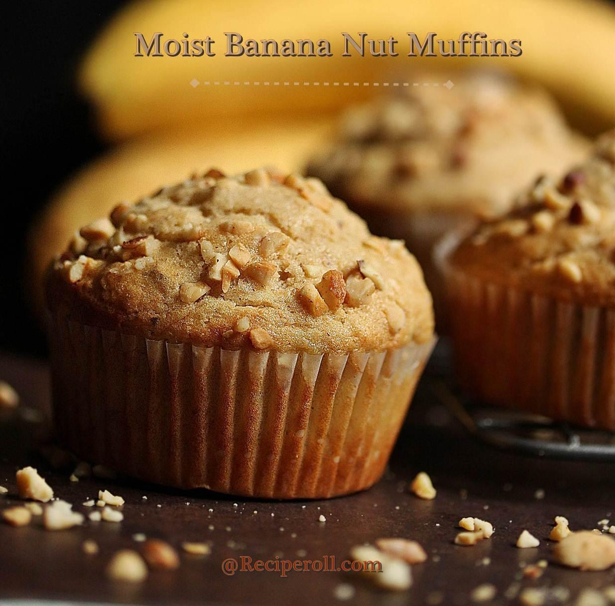 Moist Banana Nut Muffins | Breakfast Muffins ~ Sankeerthanam ...