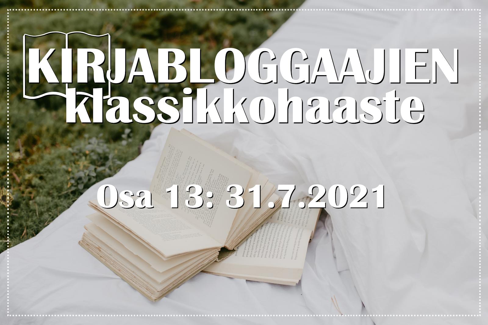 Kirjabloggaajien klassikkohaaste, osa 13