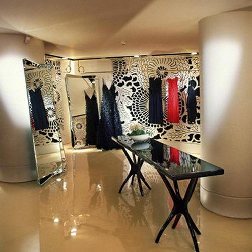 Vakko Couture the Elegant Boutique Design with Fixture Design, Boutique Design, Fashion Store Design, Interior Design, Unique Fashion Store Design, Floral Interior Design, Architecture Design