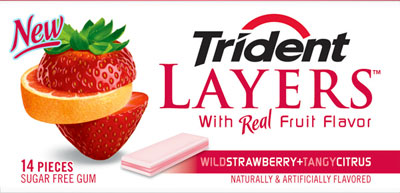 New flavors of Trident Layers Gum.