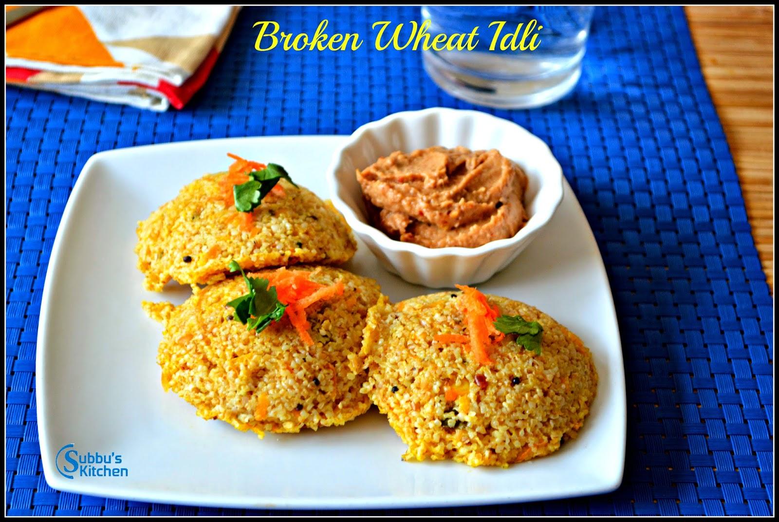 Broken Wheat Idli | Samba Godhumai Idli | Daliya Idli
