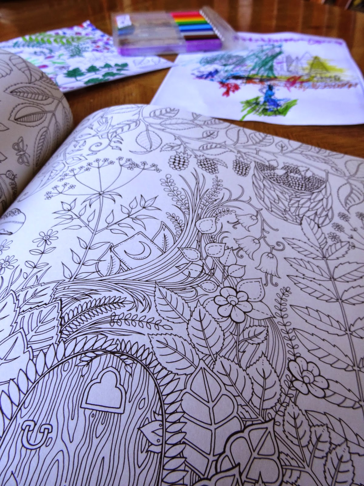 BOOKS KINOKUNIYA Enchanted Forest An Inky Quest  - enchanted forest coloring pages