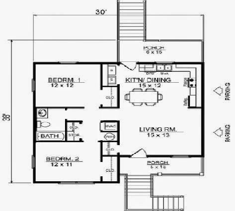 Planos de casas planos casa habitacion - Casas con buhardilla ...