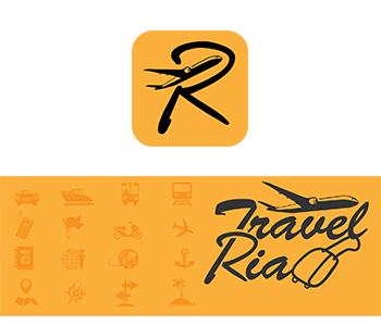 Logo branding travelria makassar
