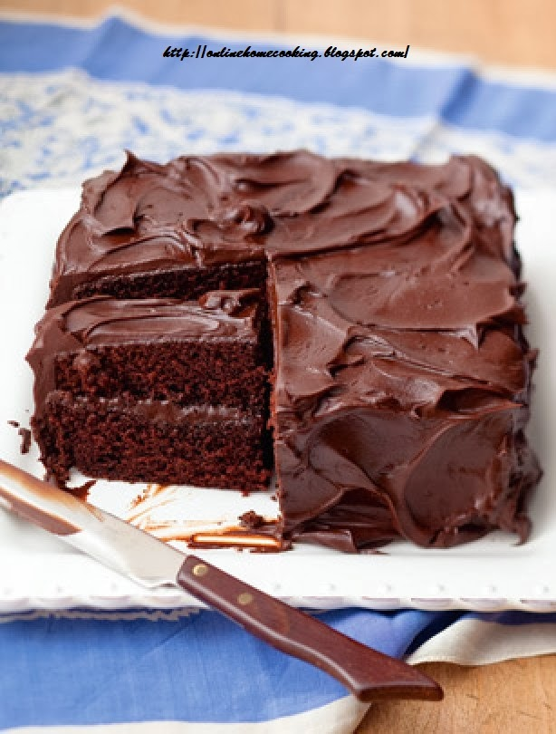 Chocolate Cake with Fudge Icing | Home cooking