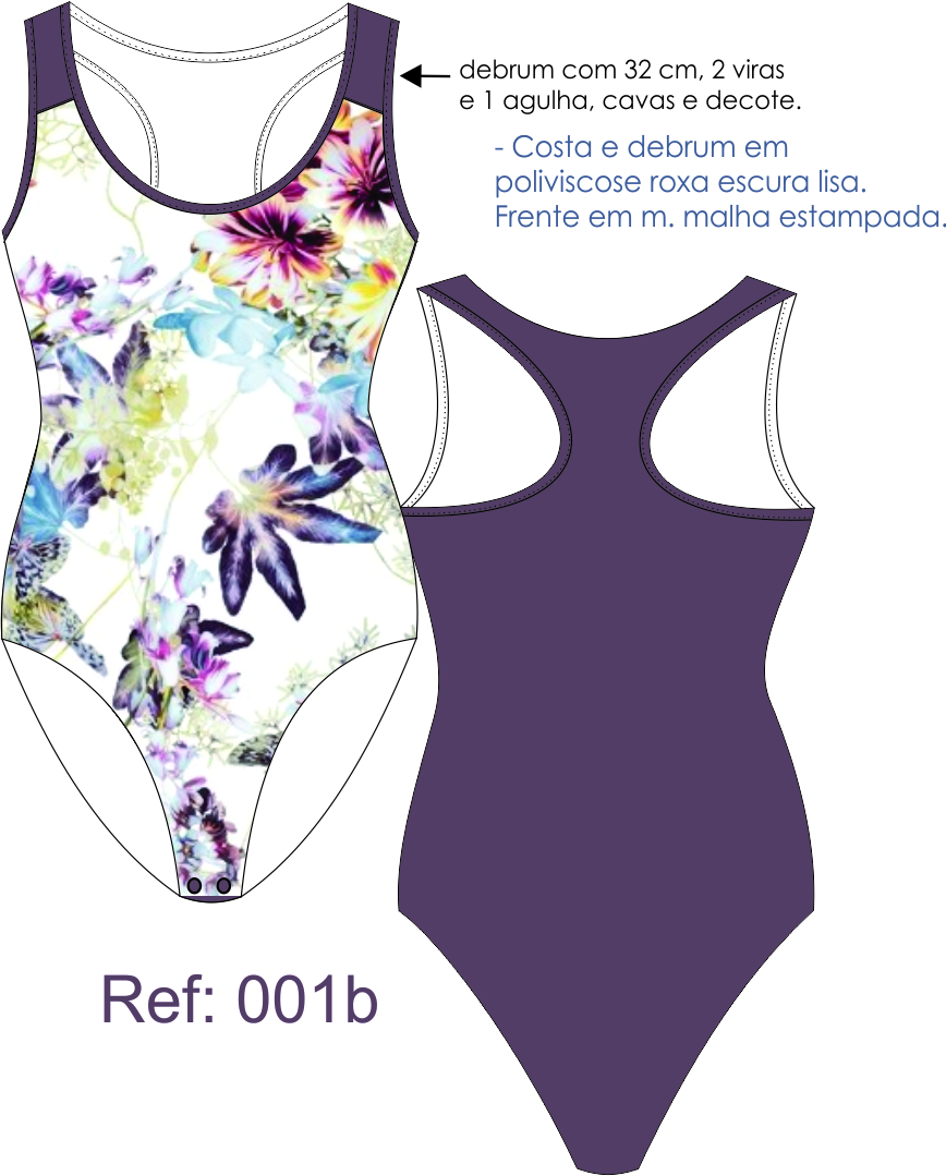 Moldes Body e Collant Feminino.
