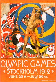 Juegos Olímpicos de Estocolmo 1912. Cartel anunciador