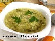 Kalerábová polievka s krupicou - recept