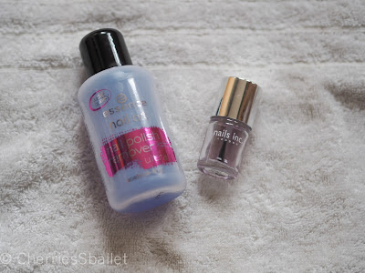 essence nail polish remover, nails inc top coat