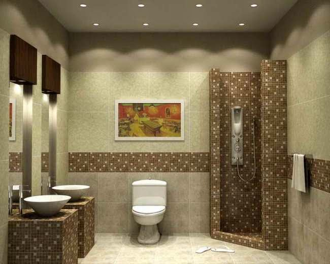 wall paint designs for bathrooms