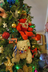 Cute Little Patriotic Bears on My Christmas Tree