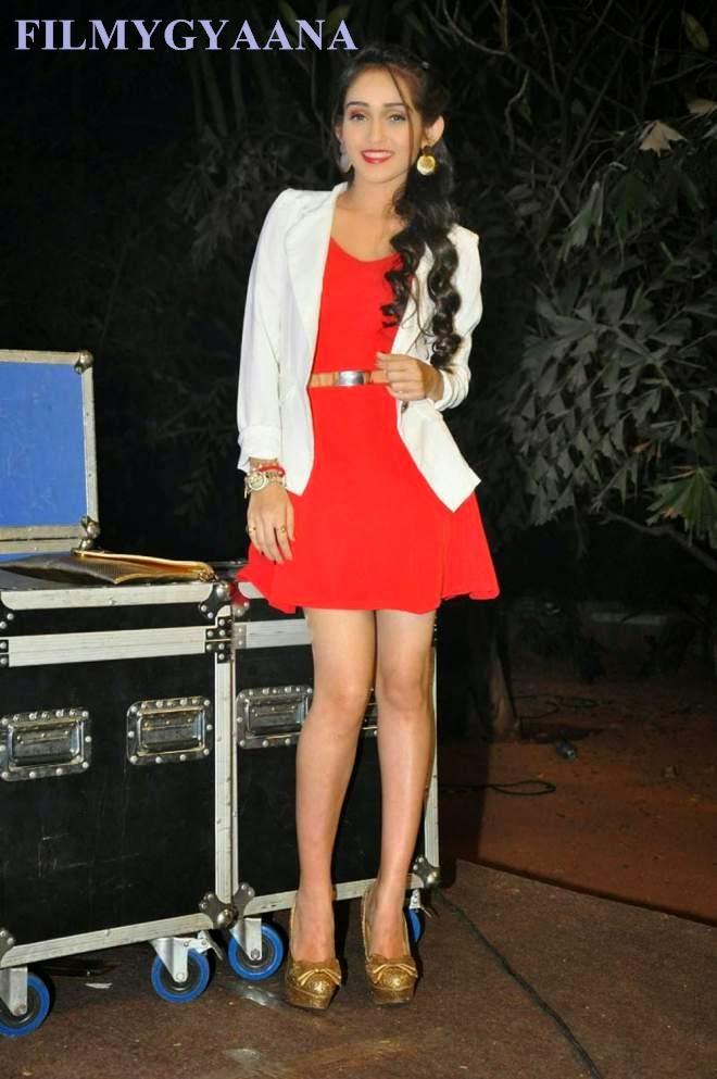 tanya sharma latest hot red mini dress photos