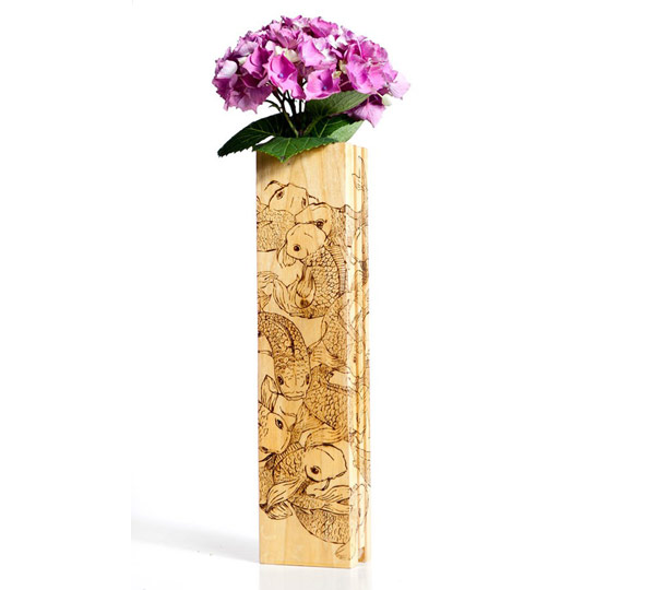 Awesome Handmade Flower Vase Fully Beautiful Carving Architecture