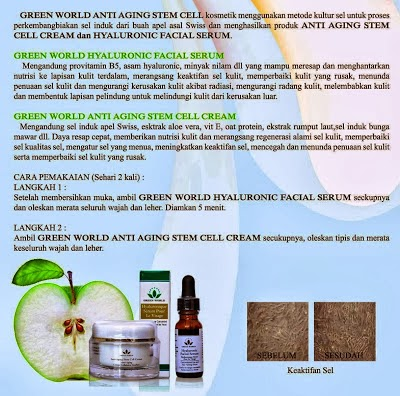 Green World Anti Aging Steam Cell