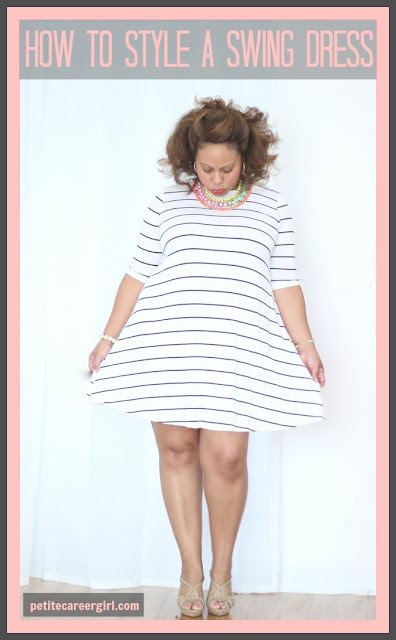 Curvy, Petite Outfit Ideas | Professional Casual Chic Fashion and Style Inspiration | Plus Size Fashion | Summer Fashion | OOTD | How to style a swing dress - (Weekend Style)
