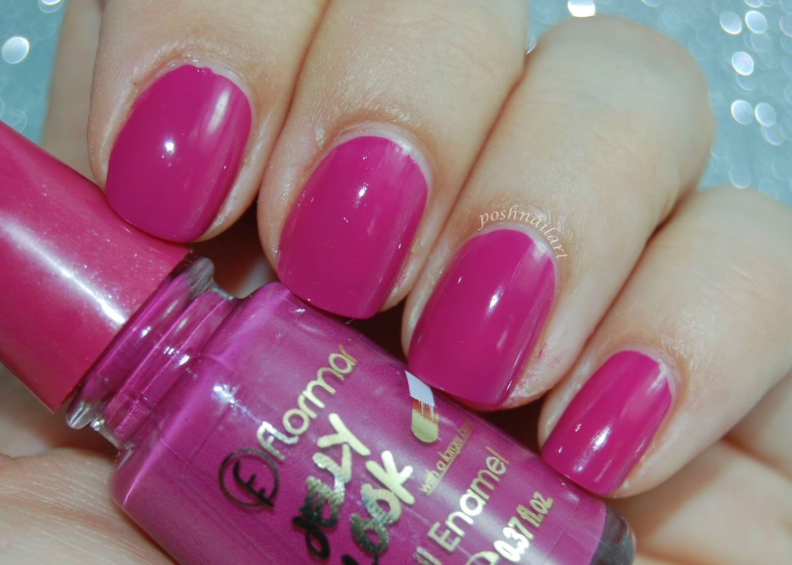 Posh Nail Art: Flormar Jelly Look - Ruby