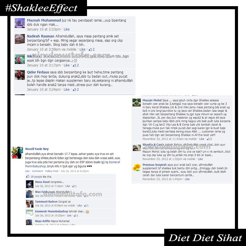 testimonial esp shaklee berpantang