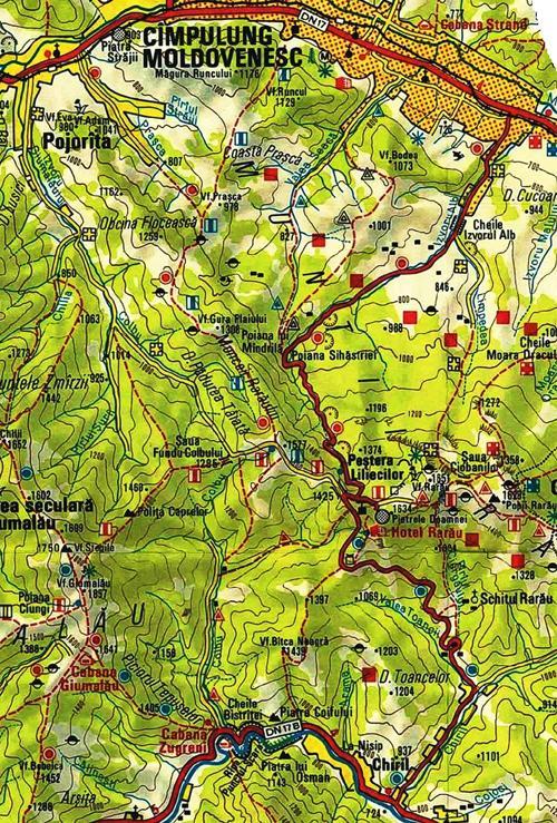 Harta trasee Rarau-Giumalau