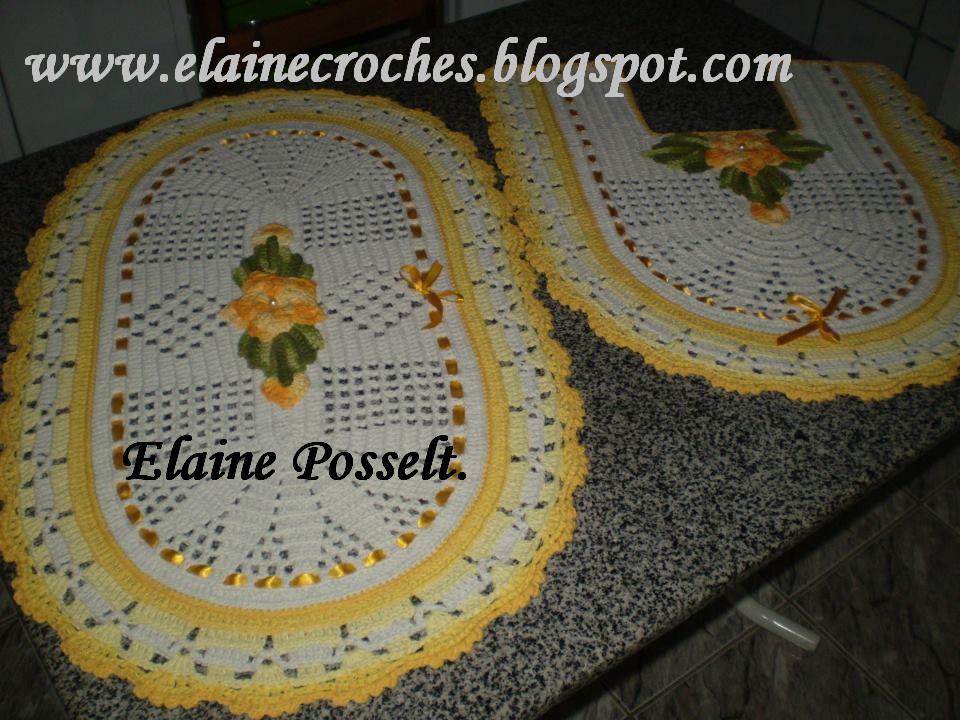 Jogo De Banheiro Marrom E Amarelo : Elaine croches sinop mt jogo banheiro amarelo