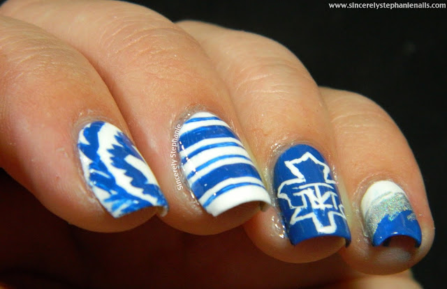 toronto maple leafs nail art