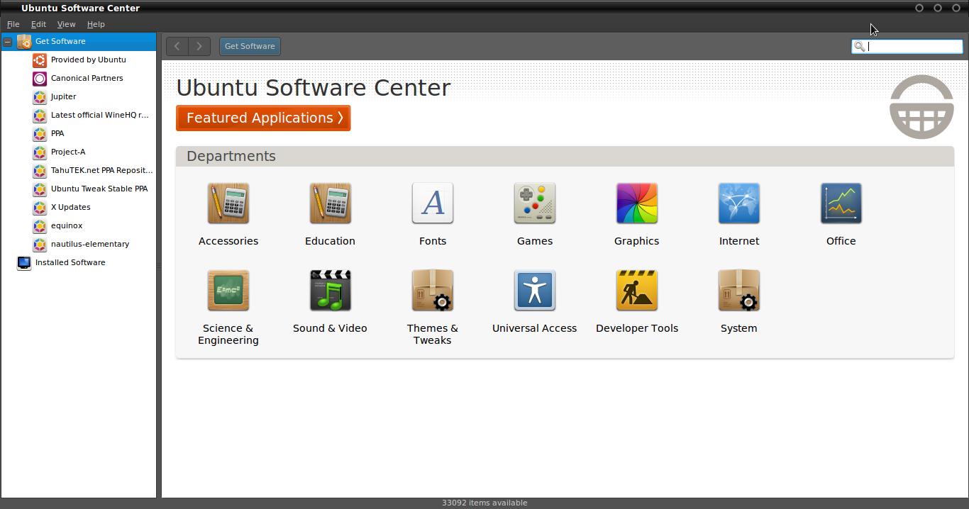Pilih Repository Ubuntu Tweak Stable