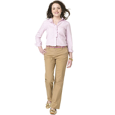 Popular  Girl Junior39s Worker Bootcut Pant With 2 Back Pockets Clothing