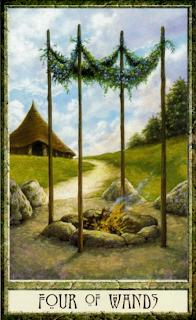 six of wands Druidcraft tarot