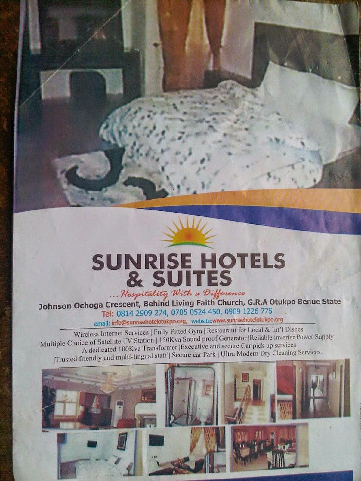 SUNRISE HOTEL, OTUKPO