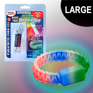 DIY Flashing Glow Bracelet Kit Made from Parachute Cord