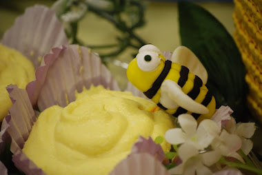 Fondant Bees for Gracey's book fair....we made about 150 of them