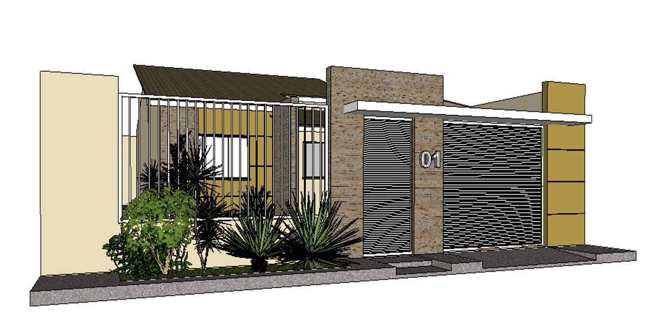 Construindo minha casa clean projeto da minha fachada com muros e - Construindo Minha Casa Clean Projeto Da Minha Fachada Com
