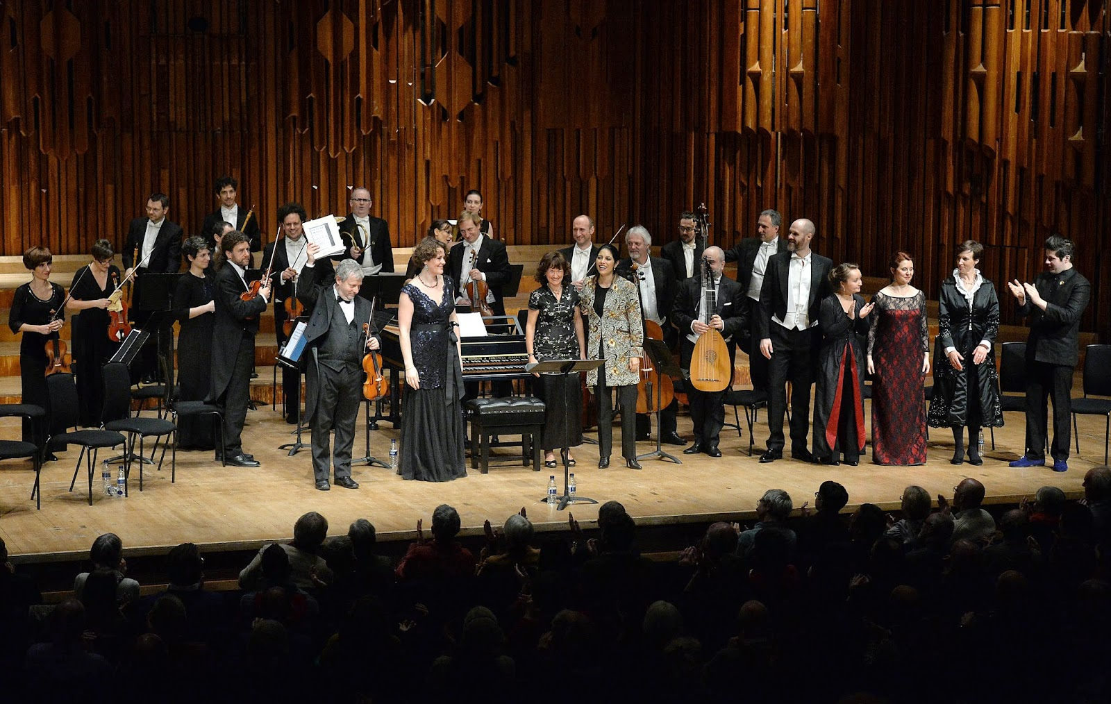 Fabio Biondi, Europa Galante and cast of Vivaldi's L'Oracolo in Messenia at the Barbican - photo Mark Allan/Barbican