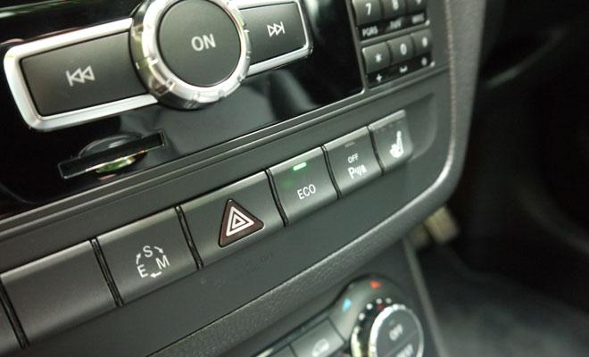 Mercedes-Benz B-Class centre-console buttons
